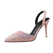 Shiny побрякушки выдалбливают скольжения на высоких каблуках Sexy Насосы