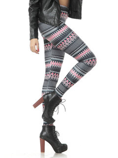 Casual Printed High Waist Stretch Skinny Pencil Pants Legging Pants