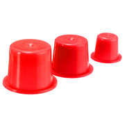 100Pcs Disposable Professional Plastic Tattoo Ink Cups Caps Supplies Tool Red 3 Sizes