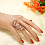 Crystal Rose Infinity Gold Silver Plated Rings