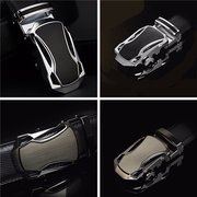 Men Business Waistband Leather Automatic Buckle Belt Waist Strap Belts