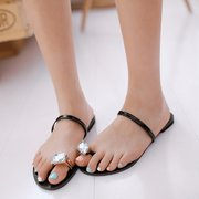 Beaded Casual Flat Beach Clip Toe Slip On Sandals Slippers