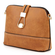 Women Stylish Dull Polish Shell Shoulder Bag Crossbody Bag