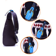 Men Nylon Crossbody Bag Chest Pack Outdoor Travel Bag