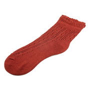 Women Cotton Sweety Hollow Out Thin Weave Knitted Low Socks