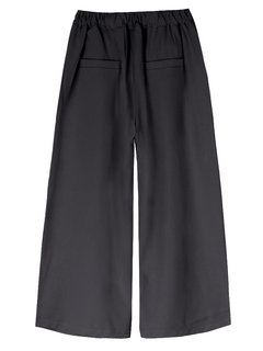 OL Solid Loose  Elastic Waist Casual Women  Wide Leg Pant