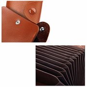13 Card Holders Woman Man Genuine Leather Wallet Colorful Casual Coin Purse