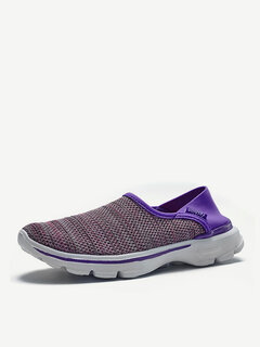 Color Match Slip On Breathable Flat Running Sport Soft Shoes