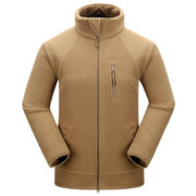 Winter Outdoor Sport Fleece Thick Multi-Pocket Stand Collar Coat For Men