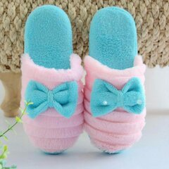 Cute Bowknot Slip On Flat Indoor Home Shoes