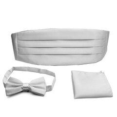 PenSee Men's Formal Neckties Solid Pre-tied Bow Tie Cummerbund Set