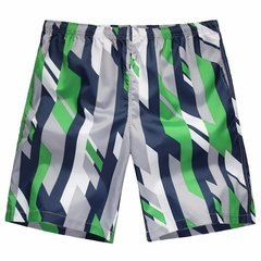 Large Size Mens Summer Shorts Quick Dry Casaul Stripe Contrast Colors Beach Shorts