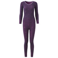 Winter Woman Comfy Soft Breathable Modal Body Shaping Sleepwear Thermal Underwear Suit