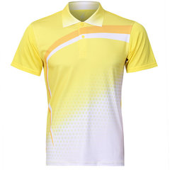 Summer Sports Training Polo Shirt Quick Drying Badminton Competitions Suit For Men
