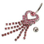 Crystal Alloy Navel Belly Piercing Ring