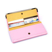 Stylish Lovely Candy Color PU Leather Long Hasp Wallet