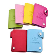 Multicolor Nail Round Template Printing Card Pack Set PU Leather Bag