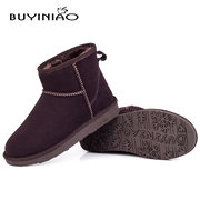 BUYINIAO Warm Soft Candy Color Flat Ankle Boots