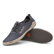 Men Mesh Breathabel Slip On Lace Casual Sport Flat Shoes