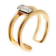 Двойной слой Кристалл кулака палец кольцо