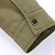 British Style Casual Business Zipper Chest Pocket Thin Stand Collar Jacket For Men