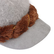 Double Thick Rabbit Fur Beret Beanie Hat Snapback Winter Soft Cap