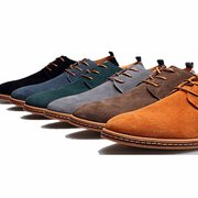 Big Size Men Leather Pure Color Casual Business British Style Lace Up Oxford Shoes