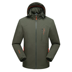 6XL Plus Size Outdoor Casual Military Style Waterproof Anti-Wind Breathable Jacket For Men