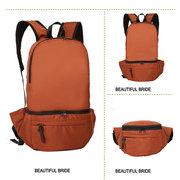 Men Women Unisex Nylon Shoulder Changeable Backpack Crossbody Bag