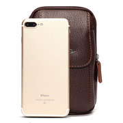 Man 6 Inch PU Waist Bag Purse Phone Wallet For Iphone Samsung Xiaomi Redmi