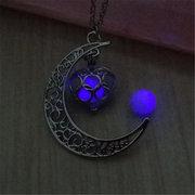 Moon Hollow Heart Luminous Necklace