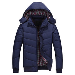Plus Size Winter Casual Outdoor Thicken Warm Detachable Hooded Jacket for Men