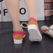 Lace Mesh Brethable Light Toe Protecting Slip On Flat Casual Shoes