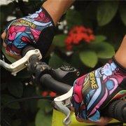 QEPAE Men Women Half Finger Gloves Outdoor Sports Riding Mountain Bike Gloves