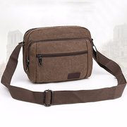 Vintage Casual Crossboay Bag Canvas Durable Square Shoulder Bag