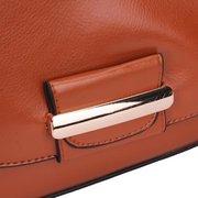 Vintage Preppy Style Pure Color Crossbody Bag