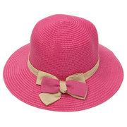 Женская Дамы Брим Соломенная шляпка Cap Summer Beach Sun Hat Cap Floppy Складная крышка
