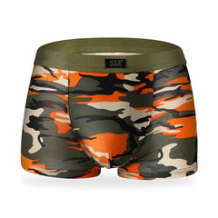 Camouflage Printing Casual Sexy Underwear Modal Soft Breathable U Convex Boxers For Men
