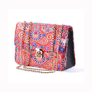 Women Vintage National Casual Crossbody Bag Floral Print Shoulder Bag