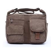 Men Canvas Retro Casual Crossbody Bag