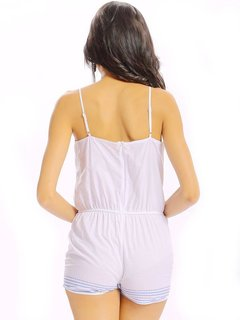 Women Casual Geometrical Printing Camisole O Neck Jumpsuit
