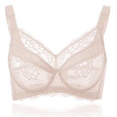 Plus Size Sexy Breathable Lace Ultrathin Full Cup Underwire Bras