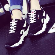 Color Matching Lace Up Breathable Running Platform Sport Sneakers