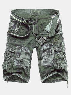 Мужская повседневная Камуфляж шорты нескольких карманах хлопок смешивание Грузовой Короткие штаны