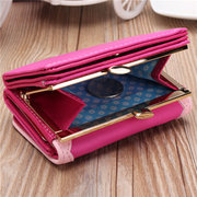 Women Cute PU Leather Short Wallet