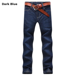 Casual Stylish Business Cotton Thin Straight Leg Slim Fit Jeans For Men