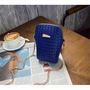Weave PU Leather Universal 5.5inch Shoulder Chain Phone Bag For iPhone Samsung Xiaomi Huawei Sony