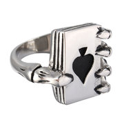 Stainless Steel Skull Hand Claw Poker Ring