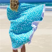 Round Beach Scarf Sun Protection Shawl Towel Tapestry Wall Hanging Throw Yoga Mat