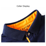 Fashion Casual Solid Color Lapel Polo Shirt Short Sleeve Plus Size T-shirt For Men